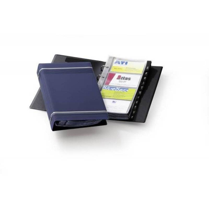 DURABLE 2385 07 VISIFIX® BUSINESS CARD ALBUM, Dark Blue