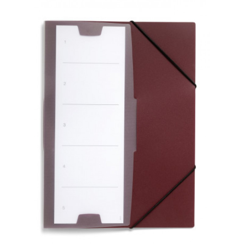 DURABLE 2472 31 ELASTICATED FOLDER PLUS, DARK RED