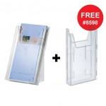 Durable 8590 19 Leaflet Holder Combiboxx 1/3 A4 Clear